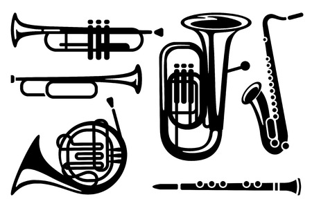 Musical instruments illustration