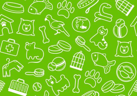 Hintergrund eines Veterinärwissenschaftsthemas und -tiere Vektorgrafik