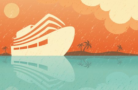 Voyage background in style of a vintage