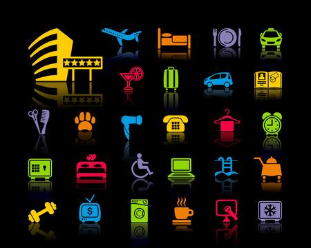 icône sur un thème de service d & # 39 ; hôtel