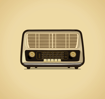 Radio receiver retro style vector illustration