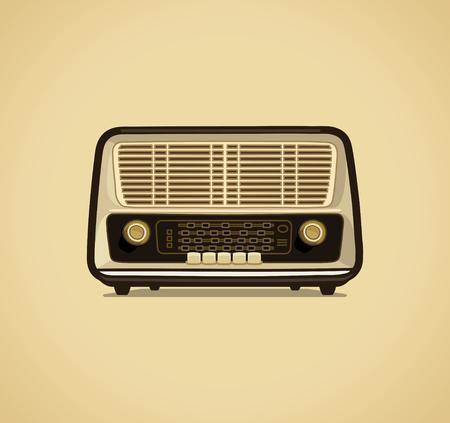 Radio receiver retro style vector illustration