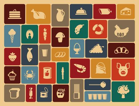 Simple symbols of a foodstuff