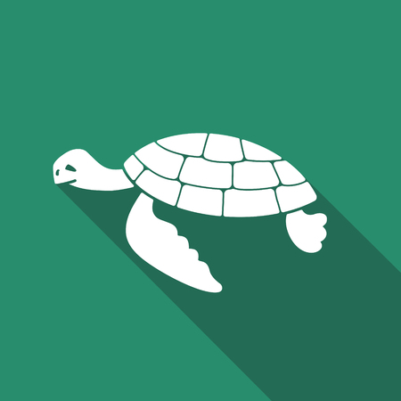 sea turtle flat vector icon with long shadow royalty free cliparts rh 123rf com Sea Turtle Designs Colorful Sea Turtles
