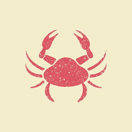 Stylized image of a crab. Flat vector icon  イラスト・ベクター素材