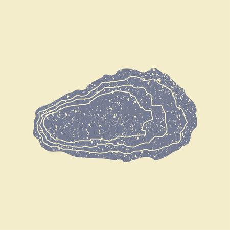 Oyster Sea Food Icon. Flat vector illustration