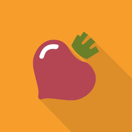Beet vegetable icon template design. Simple flat design beetroot symbol. Illusztráció
