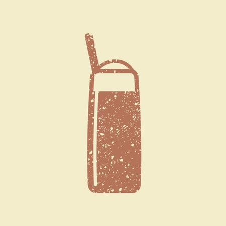 Coffee latte in glass flat vector illustration. Illustration