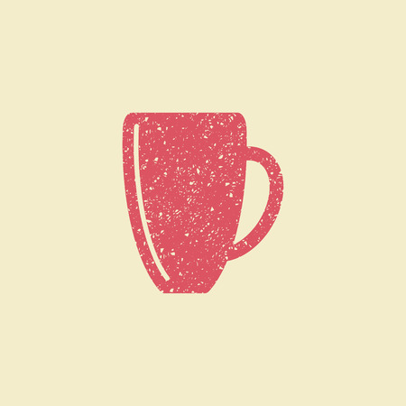 Cup for a hot drink flat icon vector illustration.