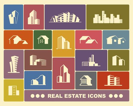 Simple symbols of real estate. Vector illustration