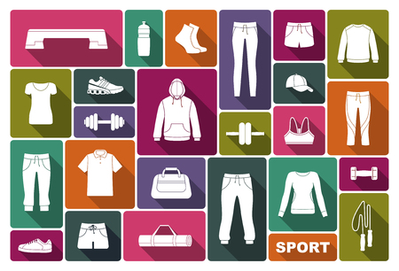 Equipment, clothing and accessories for sports and fitness