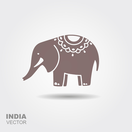 The Elephant Is The Traditional Symbol Of India Flat Icon Royalty