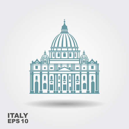 Vector Illustration of St. Peter in Roma. Vector icon 일러스트