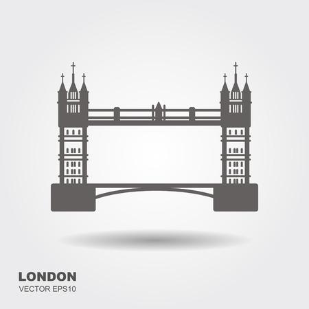 London Bridge Logo. Attraction of the capital of England. Vector illustration Stock Illustratie