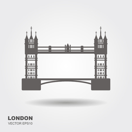 London Bridge Logo. Attraction of the capital of England. Vector illustration Ilustrace