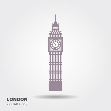 Vector Illustration of Big Ben Tower, London Ilustração