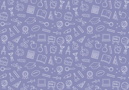 Seamless pattern on the theme of school and education Illustration