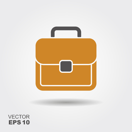 Vector simple flat logo Briefcase with shadow
