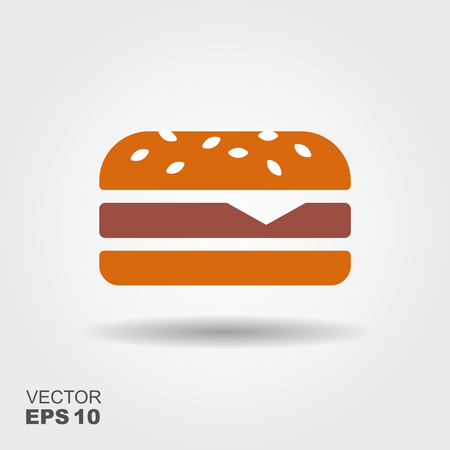 Hamburger sandwich platte pictogram