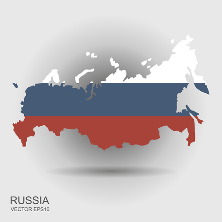 Russia map with the flag inside. Vectot illustration Ilustrace