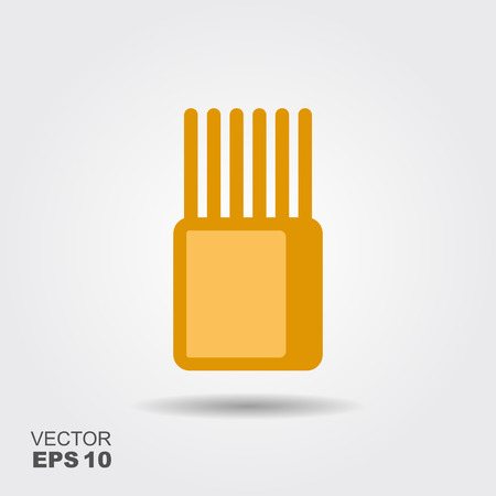 Stylized image of package of spaghetti. Flat icon