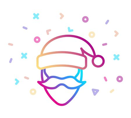 Santa Claus icon. Christmas and New Year symbol. Line style