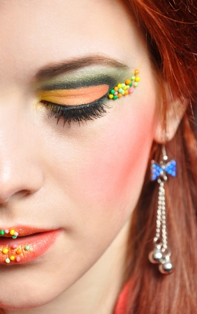Photo of attractivegirl with fashion eye make up photo