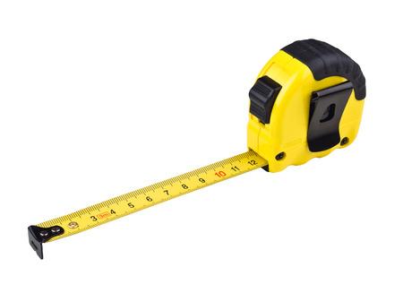 centimetres: Yellow tape measure
