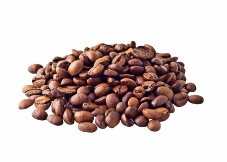 starbucks coffee: Some Coffe beans isolated on white background