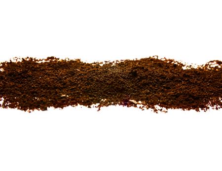 decaffeinated: Nice coffee pile on white isolated background Stock Photo