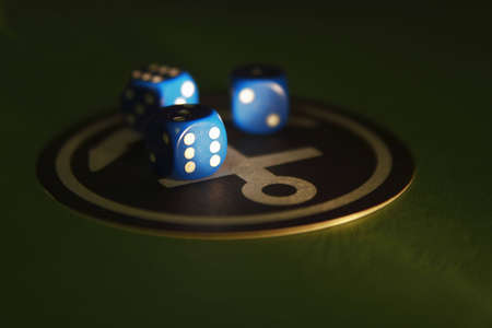 ivories: Dice in a ray of the light