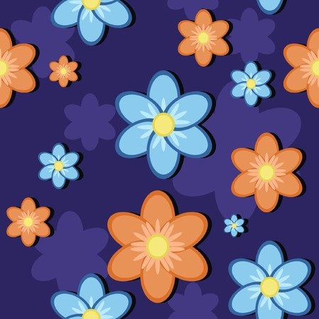 seamless background with flowers Stock Vector - 7765020