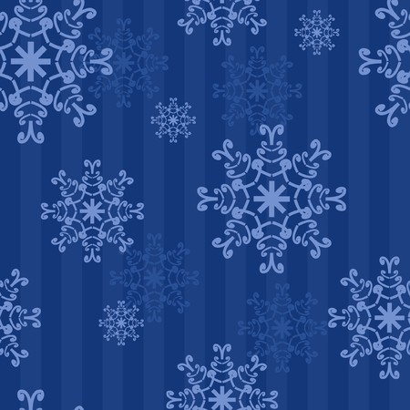 seamless background with snowflakes Stock Vector - 8133435