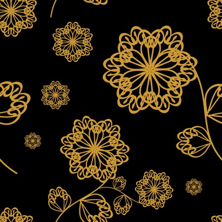 seamless ornament with flowers Vector