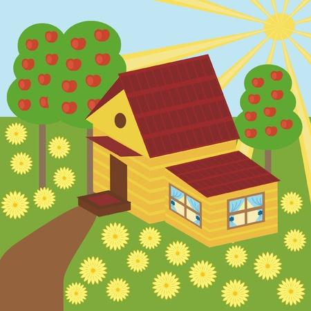 nice house: nice house and garden