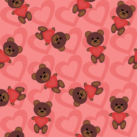 seamless background with teddy bears Vector