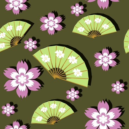 seamless background in japanese style Stock Vector - 11233016