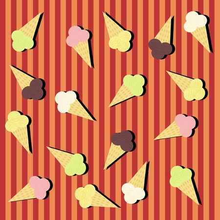 background with ice-creams Vector
