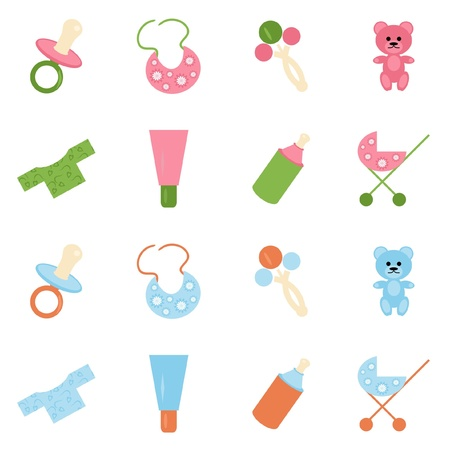 baby rattle: set with baby objects