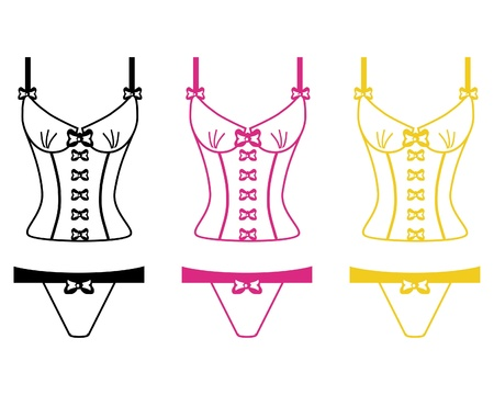 panty: lingerie on white background Illustration