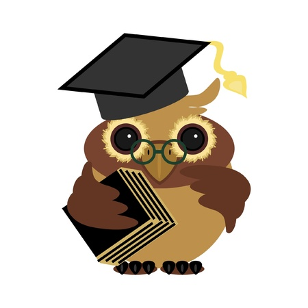 academy: owl with book