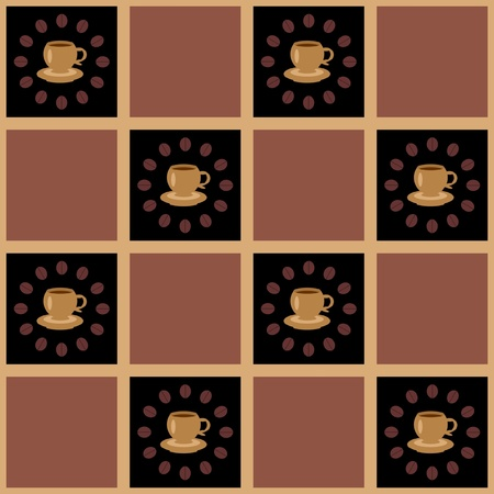 background with coffee Vector