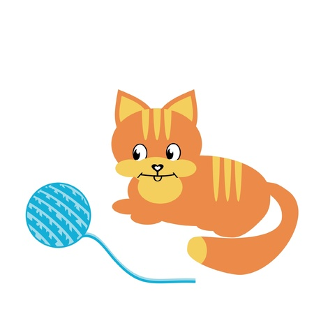 clew: nice cat with clew Illustration