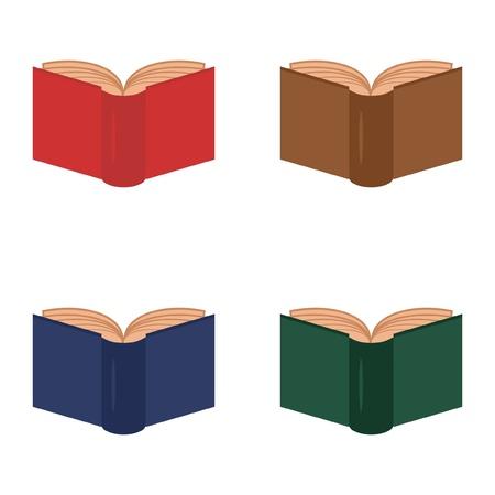 four books on white background