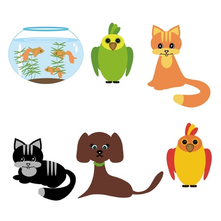 pets on white background Vector