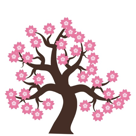 tree with flowers Stock Vector - 11886056