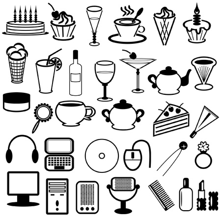 set with different objects Stock Vector - 11886058