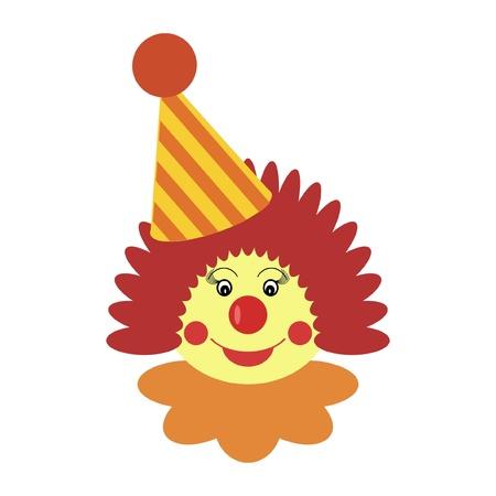 clown circus: clown on white background Illustration