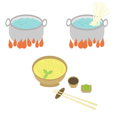 cooking of noodle