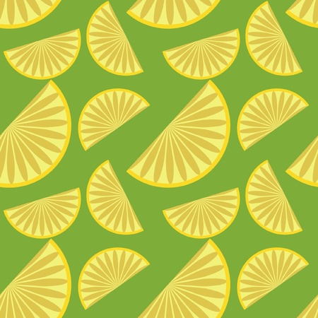 seamless background with lemons Vector